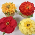 Bold Fall Floral Cupcake Collection