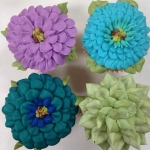 Jewel Tone Floral Cupcake Collection