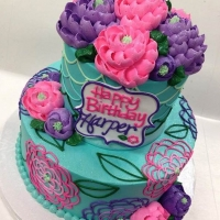 Signature Mermaid Flower 2 tier