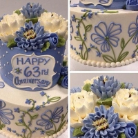 Signature Periwinkle Floral 2 tier