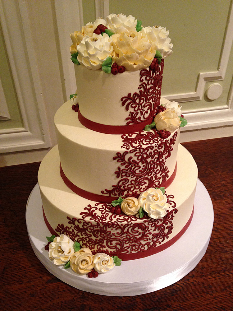 burgundy wedding cake flowers burgundy wedding cake flowers 5000 simple wedding cakes 12243